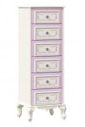 Vysoká komoda Comtesa - alabaster/fialová