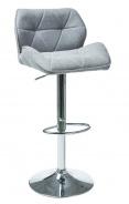 Barová stolička C-122 svetlo šedá