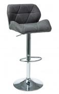 Barová stolička C-122 tmavo šedá