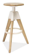 Barová stolička BODO bielený dub-biela