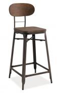 Barová stolička LOPE orech / grafit
