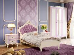 Malá dievčenská izba Comtesa - alabaster/fialová