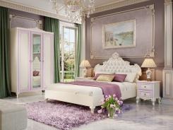Malá spálňa Comtesa - alabaster/fialová/champagne