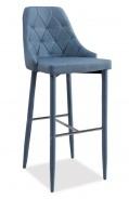 Barová čalúnená stolička TRIX H-1 denim
