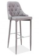 Barová čalúnená stolička TRIX H-1 šedá