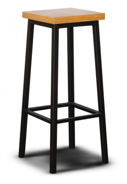 Barová stolička LOFT L3 drevo / kov