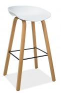 Barová stolička STING buk / biela