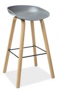 Barová stolička STING buk / sivá