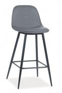 Barová čalúnená stolička TEO H-1 šedá