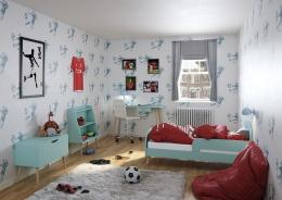 Detská izba Mokiana - mintová/masív