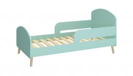 Detská posteľ Mokiana 70x140cm - mintová/masív
