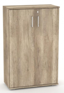 Široká dverová skrinka REA Office S30 + D3 (2ks) - dub canyon - výber dvierok