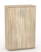 Široká dverová skrinka REA Office S30 + D3 (2ks) - dub bardolino - výber dvierok