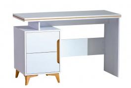 Písací stôll Naira - biela/jaseň