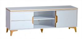 Televizný stolík Naira - biela/jaseň