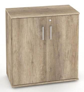 Nízka dverová skrinka REA Office S20 + D2 (2ks) - dub canyon - výber dvierok