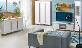 Obývacia izba Naira II - biela/jaseň