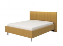 Manželská posteľ 160x200cm Camilla - žltá/sivé nohy