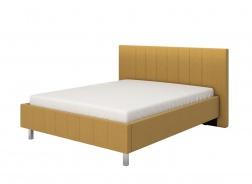 Manželská posteľ 160x200cm Camilla - žltá/chrómované nohy