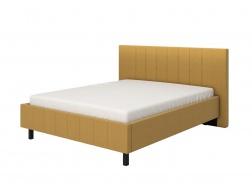 Manželská posteľ 160x200cm Camilla - žltá/čierné nohy