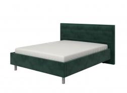 Manželská posteľ 160x200cm Corey - tm. zelená/chrómované nohy