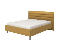 Manželská posteľ 160x200cm Corey - žltá/sivé nohy