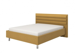 Manželská posteľ 160x200cm Corey - žltá/chrómované nohy