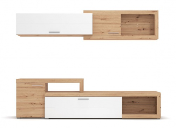 Dvojdielna obývacia stena Rico - dub artisan/biela