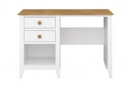 Písací stôl Pablo - biely/masív