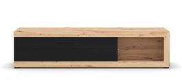 Televízny stolík Ronja 180cm - dub artisan/čierna