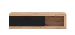 Televízny stolík Ronja - dub artisan/čierna