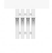 Vešiaková stena, DTD laminovaná, biela, TopTech