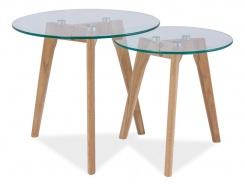 Konferenčné stolíky zostava 2ks OSLO S2