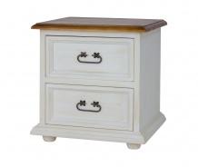 Drevený nočný stolík so zásuvkami COM 112 SLIM - výber morenie
