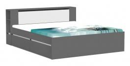 Manželská posteľ REA Amy 31/180 - graphite - výber čela a líšt