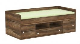Detská posteľ REA Poppo 90x200cm - orech Rockpile - výber čiel