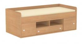Detská posteľ REA Poppo 90x200cm - buk - výber čiel