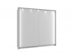 Rám k šatníkovej skrini 220 s osvetlením - biela