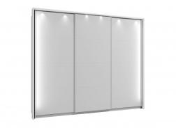 Rám k šatníkovej skrini 270 s osvetlením - biela