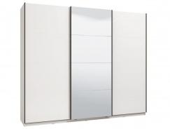 Šatníková skriňa s posuvnými dverami Aubrey 270 - biela/lesk