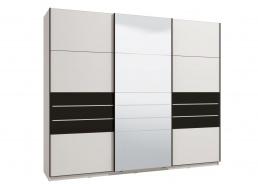 Skriňa s posuvnými dverami Marat 270 - biela/čierna