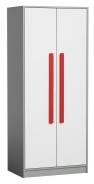 Šatná skriňa GYT 1 antracit / biela/červená