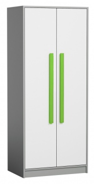 Šatná skriňa GYT 1 antracit / biela / zelená