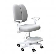 Rastúca stolička s podnožou a trakmi ANAIS - sivá/biela