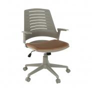 Kancelárska stolička DARIUS - sivá/hnedá