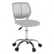 Otočná stolička SELVA - sivá/chróm