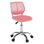Otočná stolička SELVA - ružová/chróm