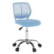 Otočná stolička SELVA - modrá/chróm