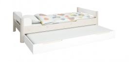 Detská posteľ s prístelkou Eveline 90x200cm - biela