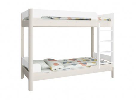 Poschodová posteľ Eveline 90x200cm - biela